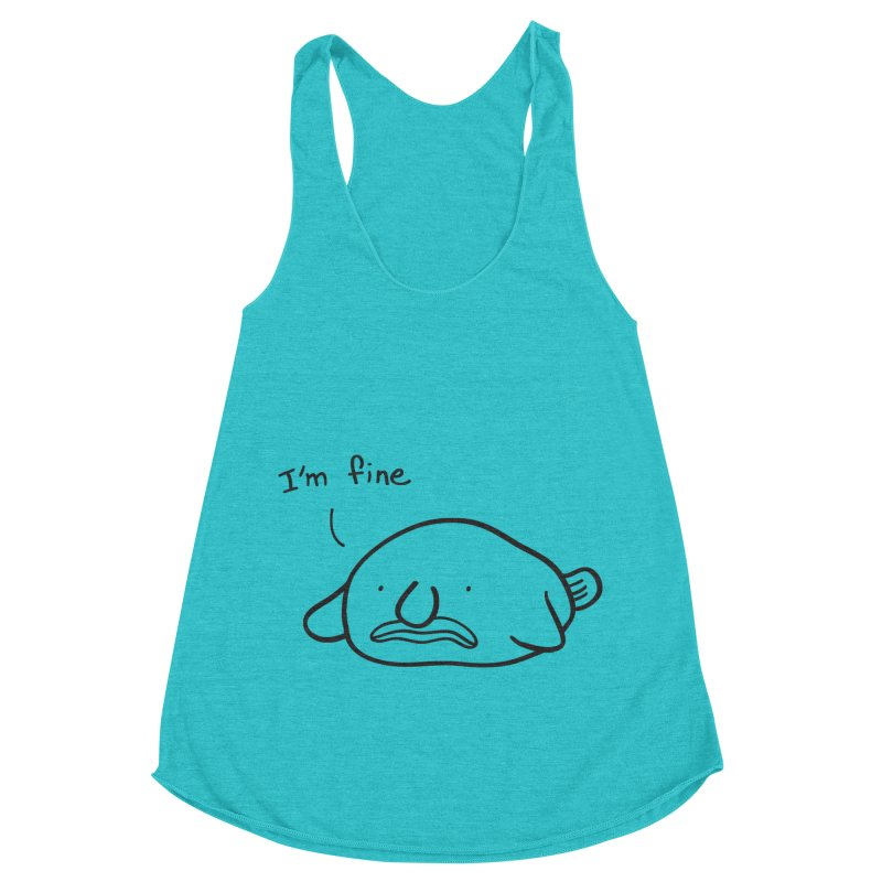 Blobfish is fine Women's Racerback Triblend Tank by agrimony // Aaron Thong