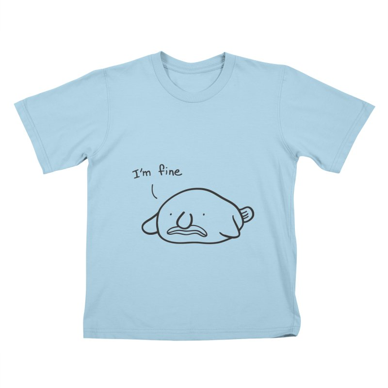 Blobfish is fine Kids T-Shirt by agrimony // Aaron Thong