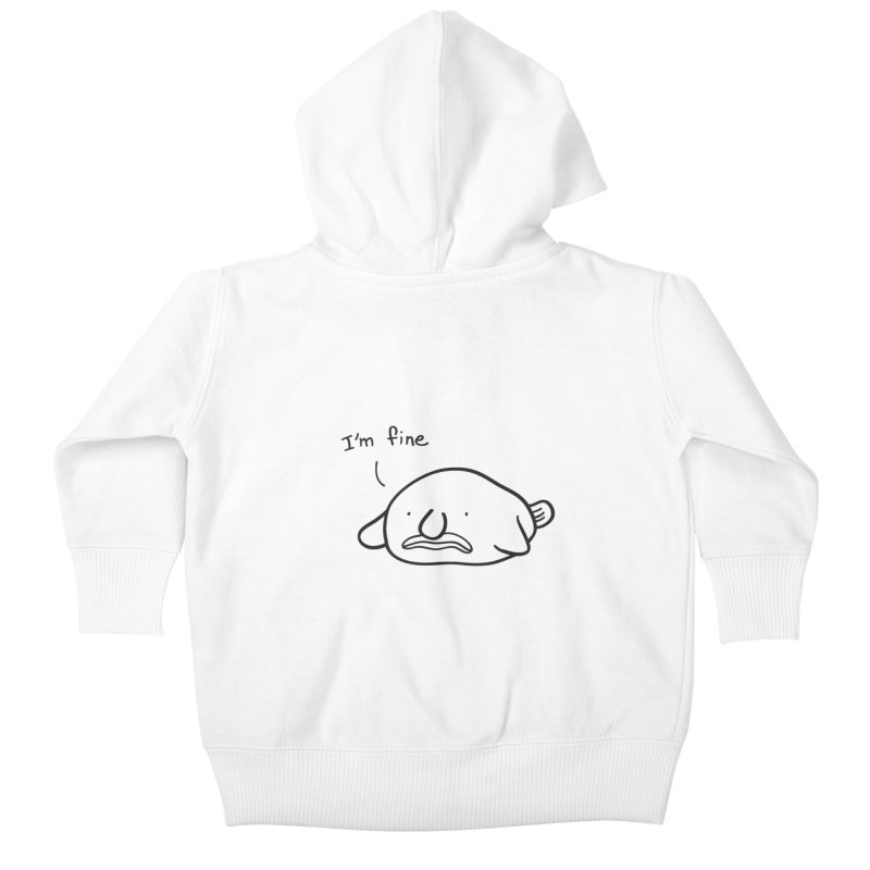 Blobfish is fine Kids Baby Zip-Up Hoody by agrimony // Aaron Thong