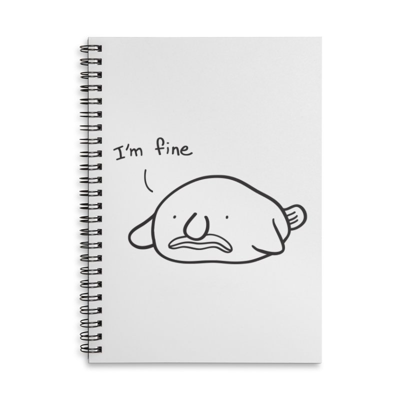 Blobfish is fine Accessories Lined Spiral Notebook by agrimony // Aaron Thong