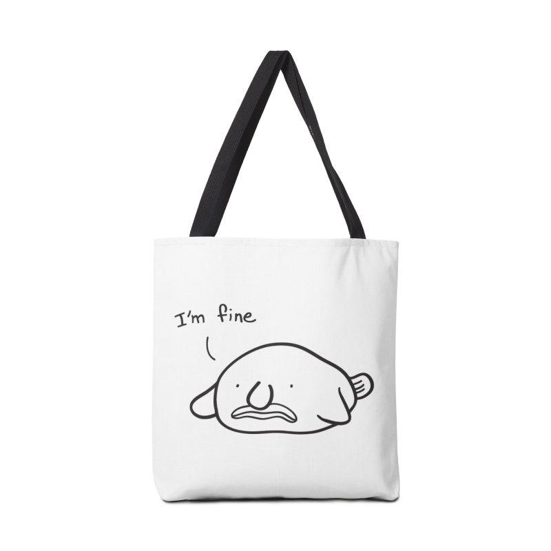 Blobfish is fine Accessories Bag by agrimony // Aaron Thong