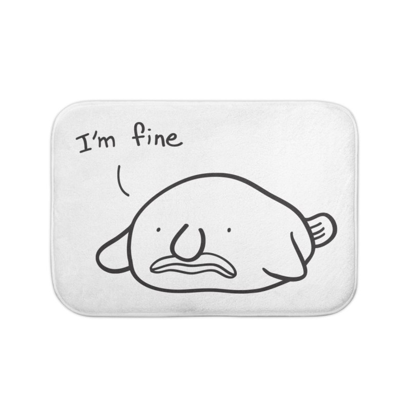 Blobfish is fine Home Bath Mat by agrimony // Aaron Thong