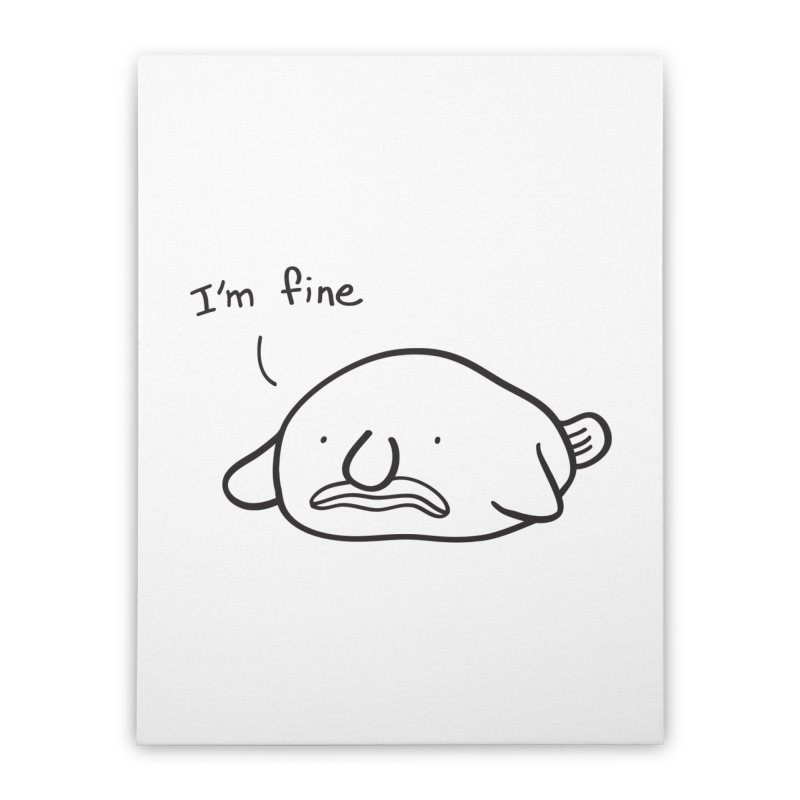 Blobfish is fine Home Stretched Canvas by agrimony // Aaron Thong