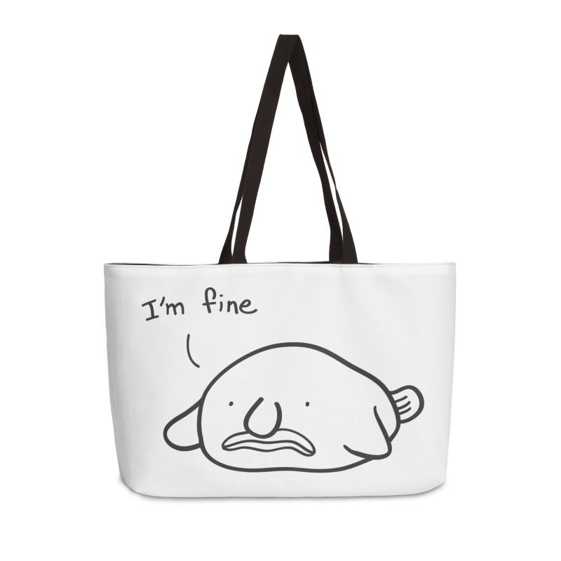 Blobfish is fine Accessories Weekender Bag Bag by agrimony // Aaron Thong