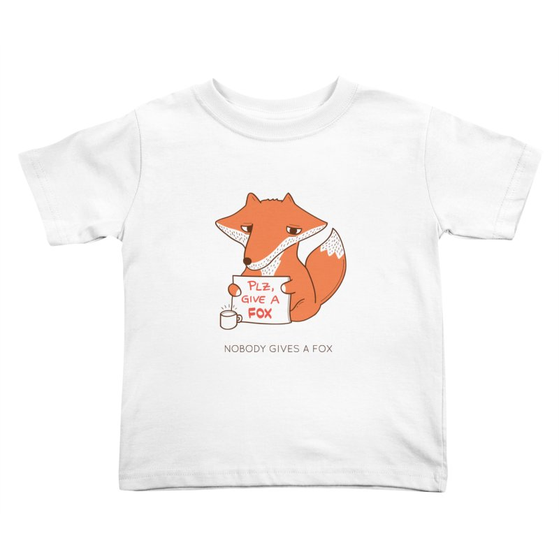 Nobody Gives A Fox Kids Toddler T-Shirt by agrimony // Aaron Thong