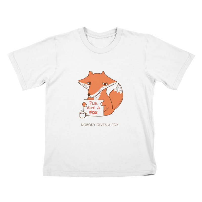Nobody Gives A Fox Kids T-Shirt by agrimony // Aaron Thong