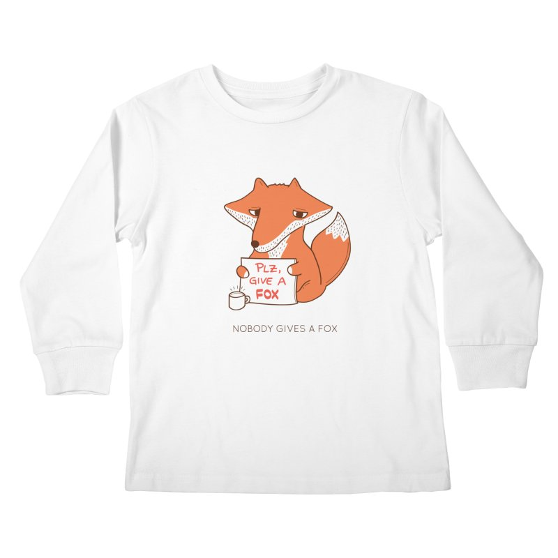 Nobody Gives A Fox Kids Longsleeve T-Shirt by agrimony // Aaron Thong