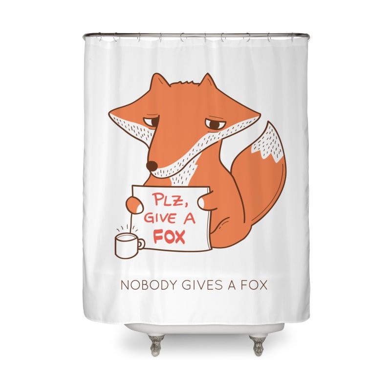 Nobody Gives A Fox Home Shower Curtain by agrimony // Aaron Thong