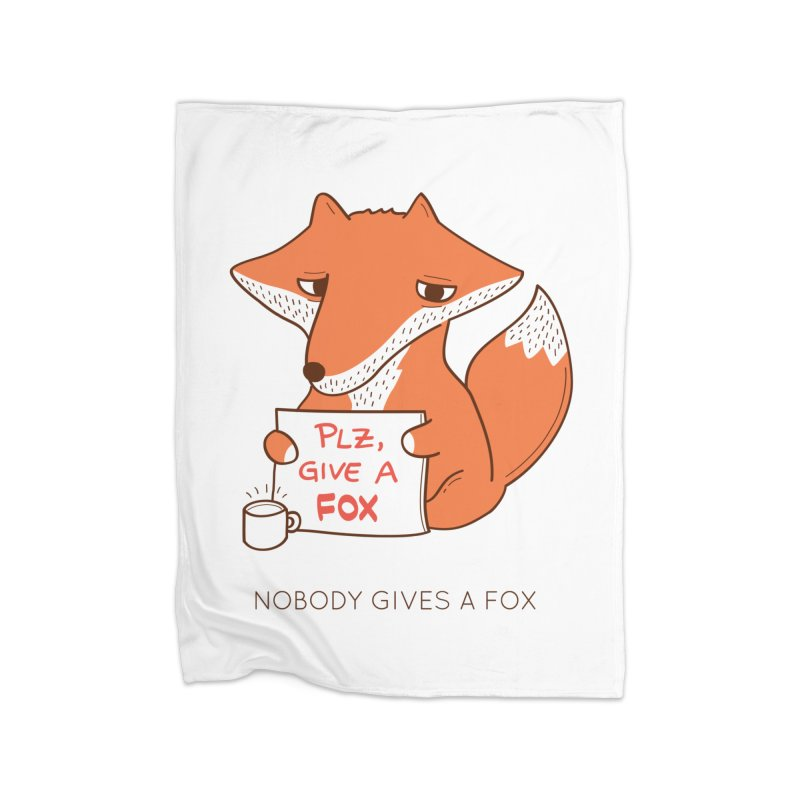 Nobody Gives A Fox Home Blanket by agrimony // Aaron Thong