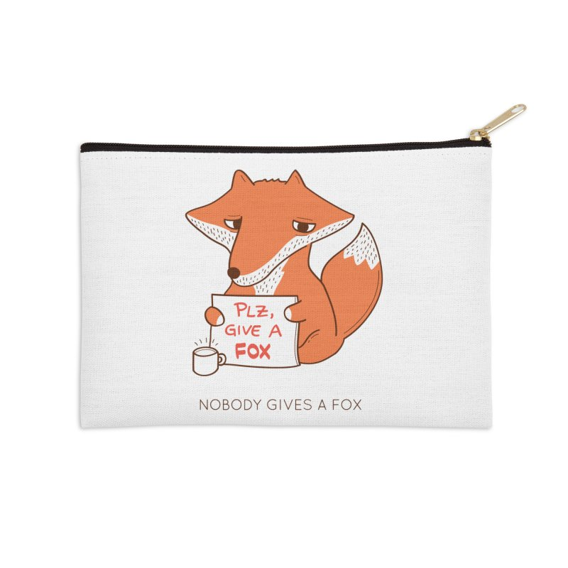 Nobody Gives A Fox Accessories Zip Pouch by agrimony // Aaron Thong