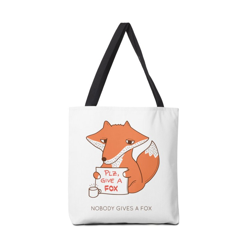 Nobody Gives A Fox Accessories Bag by agrimony // Aaron Thong