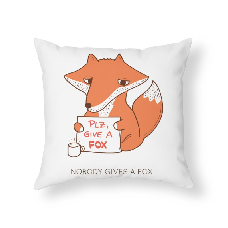 Nobody Gives A Fox Home Throw Pillow by agrimony // Aaron Thong