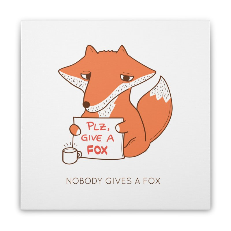 Nobody Gives A Fox Home Stretched Canvas by agrimony // Aaron Thong