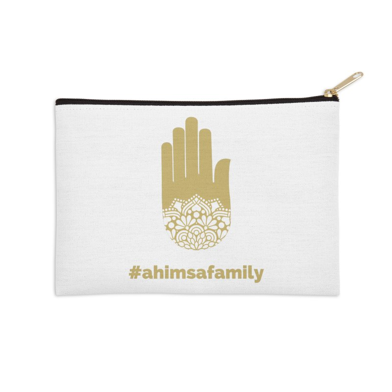 #ahimsafamily Design Accessories Zip Pouch by ahimsafamily's shop