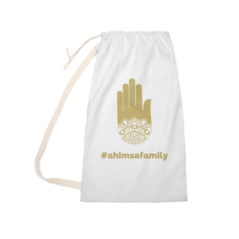 #ahimsafamily Design Accessories Laundry Bag Bag by ahimsafamily's shop