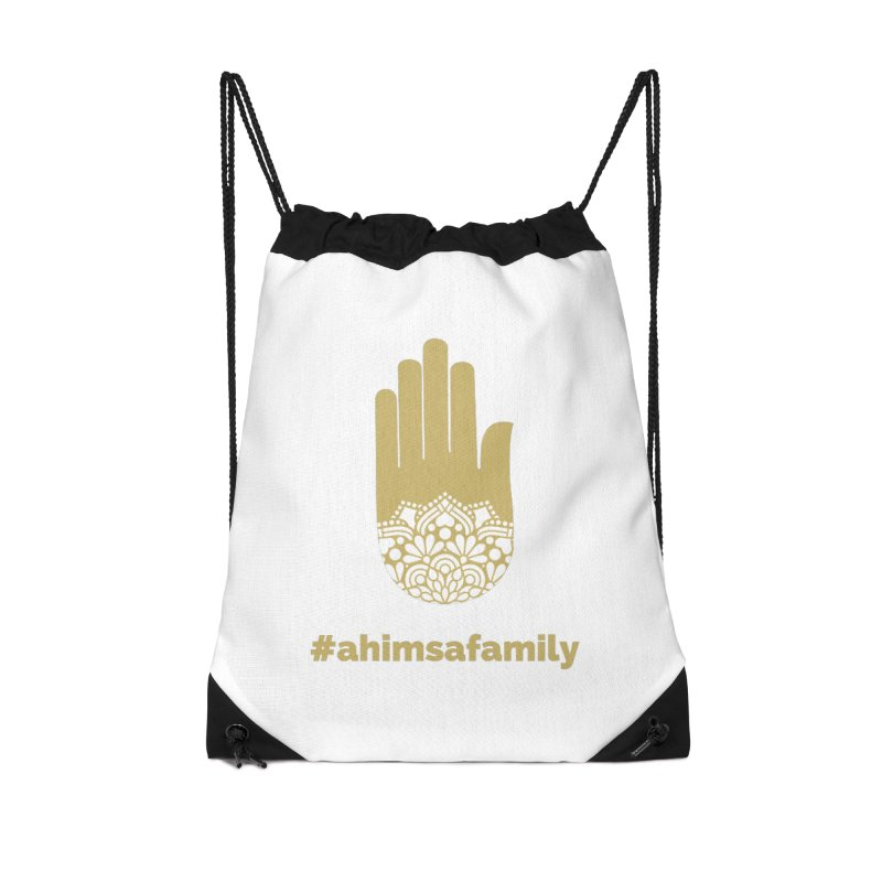 #ahimsafamily Design Accessories Drawstring Bag Bag by ahimsafamily's shop