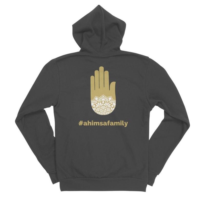 #ahimsafamily Design Men's Sponge Fleece Zip-Up Hoody by ahimsafamily's shop
