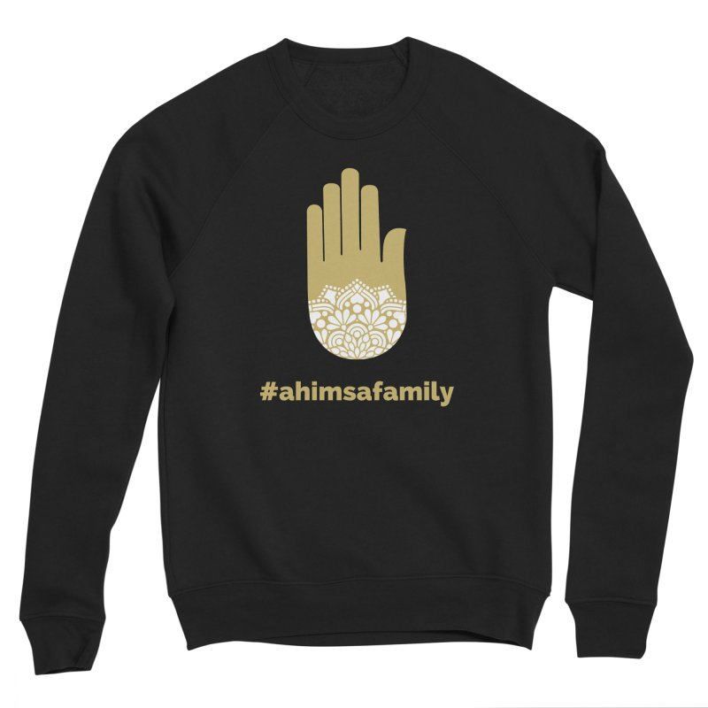 #ahimsafamily Design Men's Sponge Fleece Sweatshirt by ahimsafamily's shop