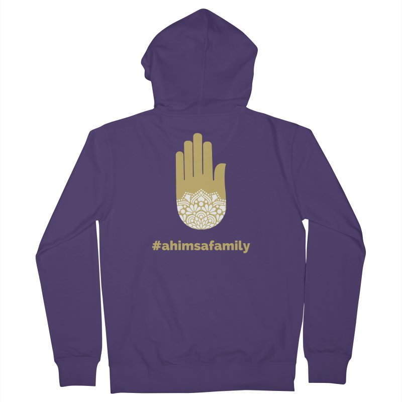 #ahimsafamily Design Women's French Terry Zip-Up Hoody by ahimsafamily's shop