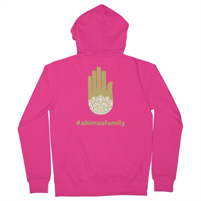 #ahimsafamily Design Men's French Terry Zip-Up Hoody by ahimsafamily's shop