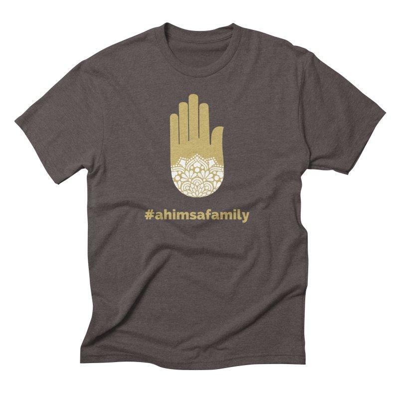 #ahimsafamily Design Men's Triblend T-Shirt by ahimsafamily's shop