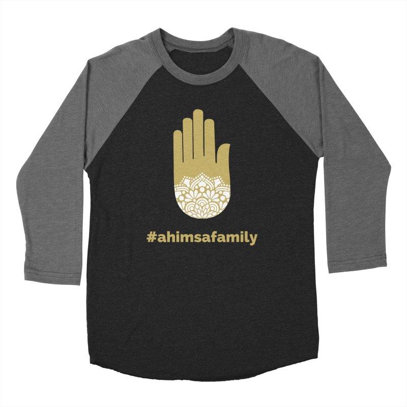#ahimsafamily Design Men's Baseball Triblend Longsleeve T-Shirt by ahimsafamily's shop