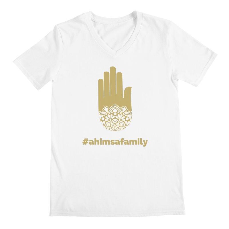 #ahimsafamily Design Men's Regular V-Neck by ahimsafamily's shop