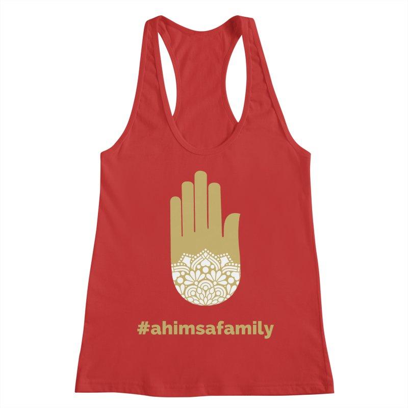 #ahimsafamily Design Women's Racerback Tank by ahimsafamily's shop