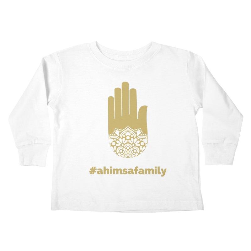#ahimsafamily Design Kids Toddler Longsleeve T-Shirt by ahimsafamily's shop