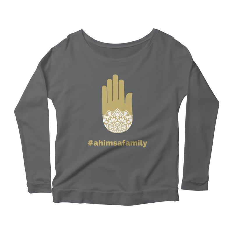 #ahimsafamily Design Women's Scoop Neck Longsleeve T-Shirt by ahimsafamily's shop
