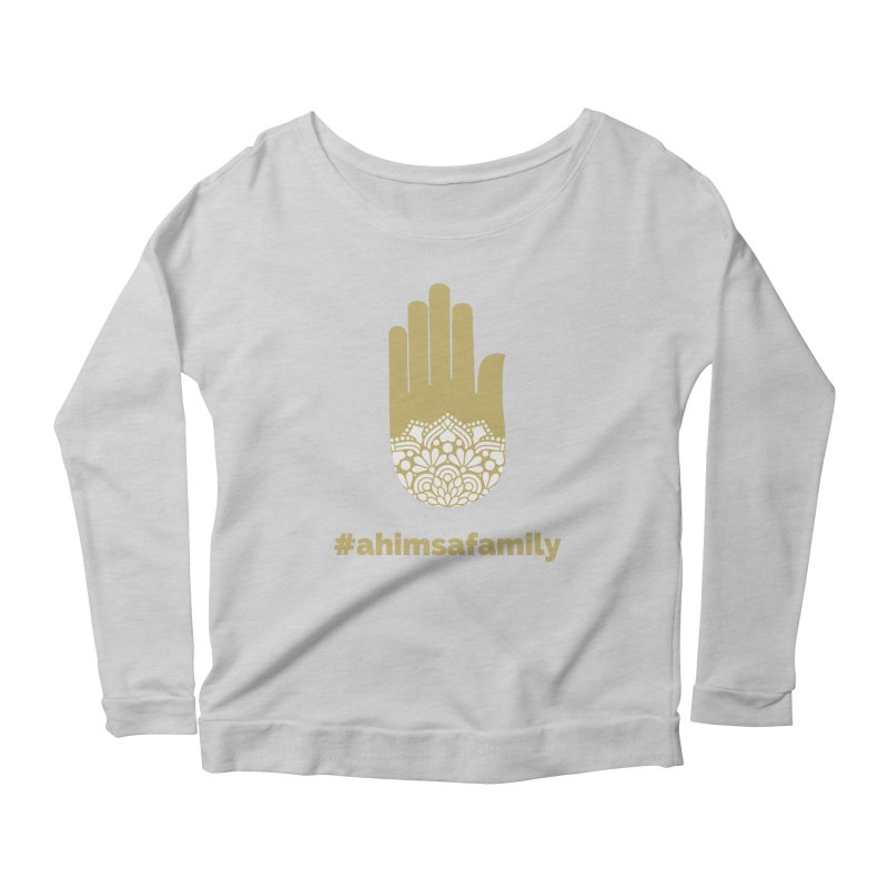 #ahimsafamily Design Women's Scoop Neck Longsleeve T-Shirt by ahimsafamily's shop