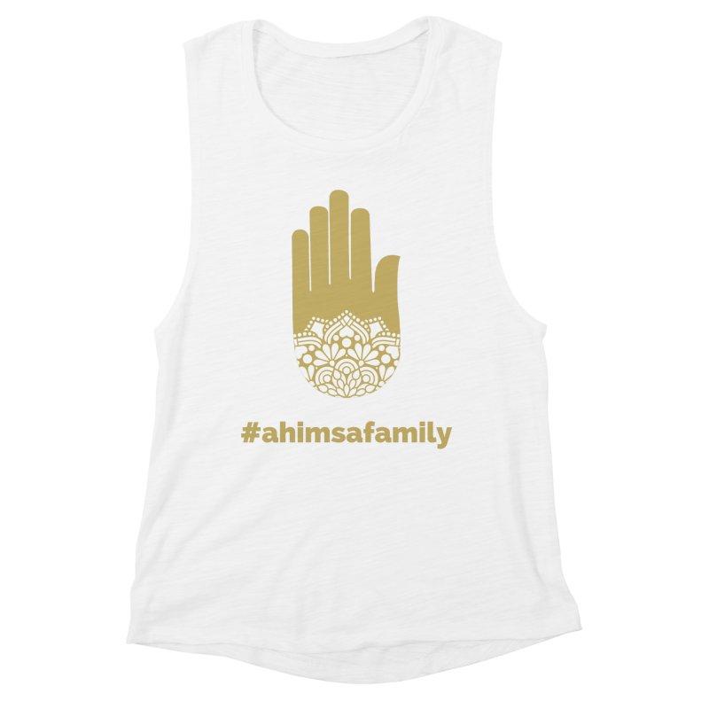 #ahimsafamily Design Women's Muscle Tank by ahimsafamily's shop