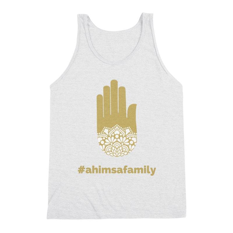 #ahimsafamily Design Men's Triblend Tank by ahimsafamily's shop