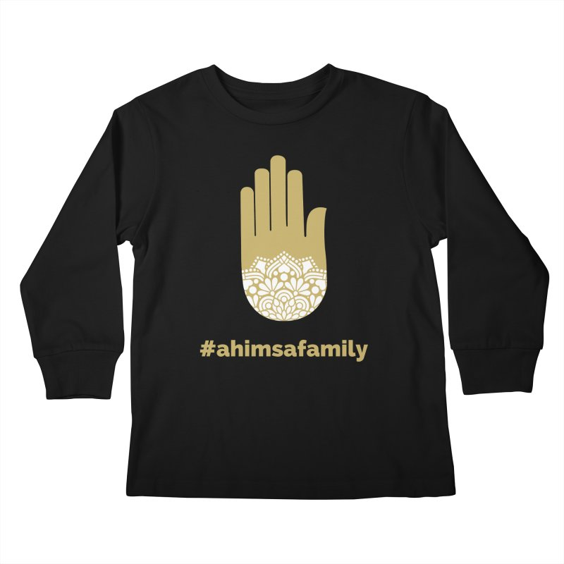 #ahimsafamily Design Kids Longsleeve T-Shirt by ahimsafamily's shop