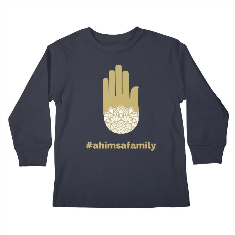 #ahimsafamily Design Kids Longsleeve T-Shirt by ahimsafamily's shop