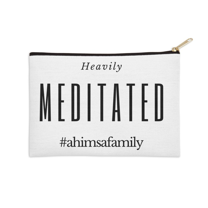 Heavily Meditated Design Accessories Zip Pouch by ahimsafamily's shop