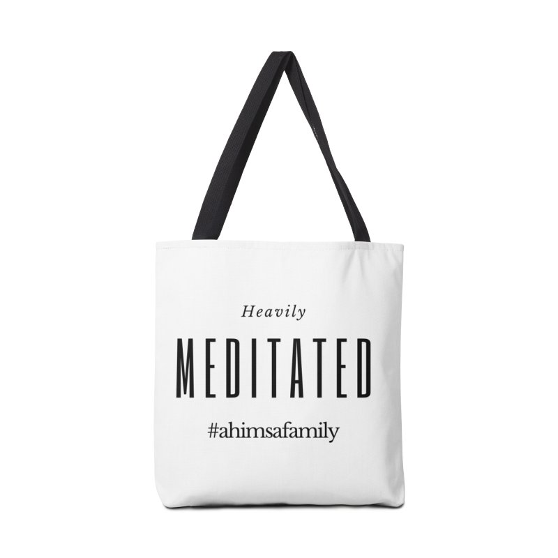 Heavily Meditated Design Accessories Tote Bag Bag by ahimsafamily's shop