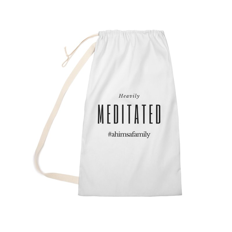 Heavily Meditated Design Accessories Laundry Bag Bag by ahimsafamily's shop
