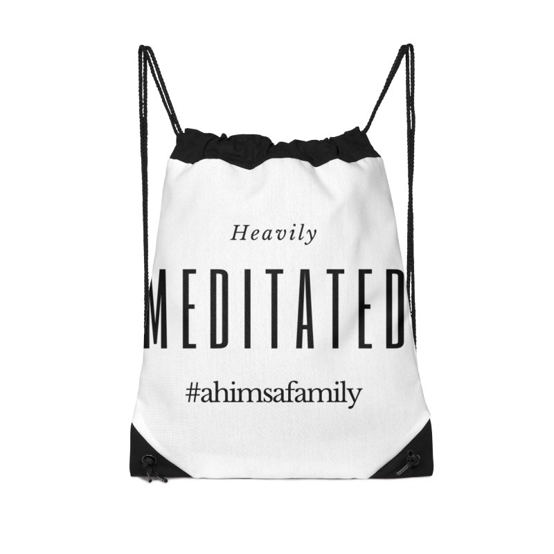Heavily Meditated Design Accessories Drawstring Bag Bag by ahimsafamily's shop
