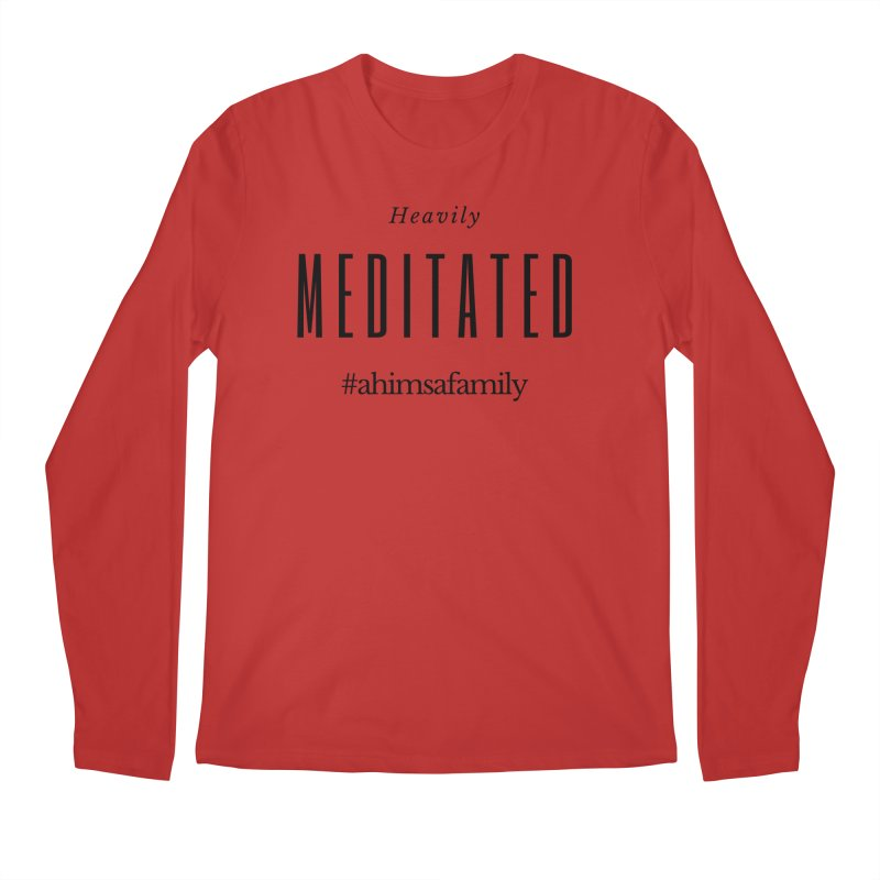 Heavily Meditated Design Men's Regular Longsleeve T-Shirt by ahimsafamily's shop