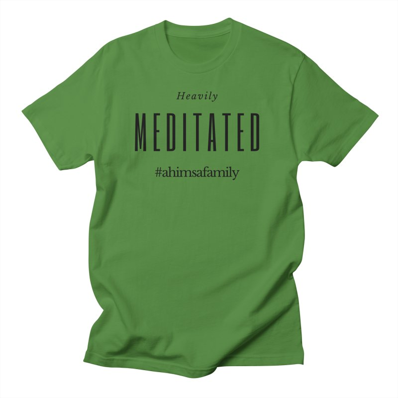 Heavily Meditated Design Men's Regular T-Shirt by ahimsafamily's shop