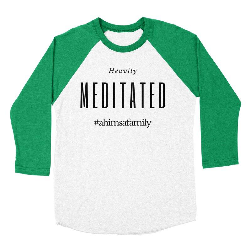 Heavily Meditated Design Men's Baseball Triblend Longsleeve T-Shirt by ahimsafamily's shop