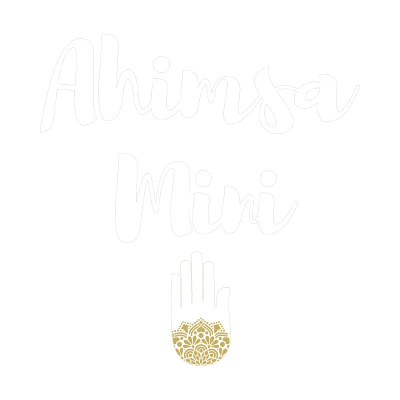 Ahimsa Mini | White Letters Design Kids Baby Bodysuit by ahimsafamily's shop