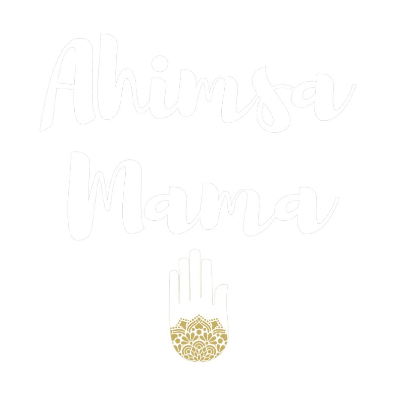 Ahimsa Mama | White Letters Design Accessories Mug by ahimsafamily's shop