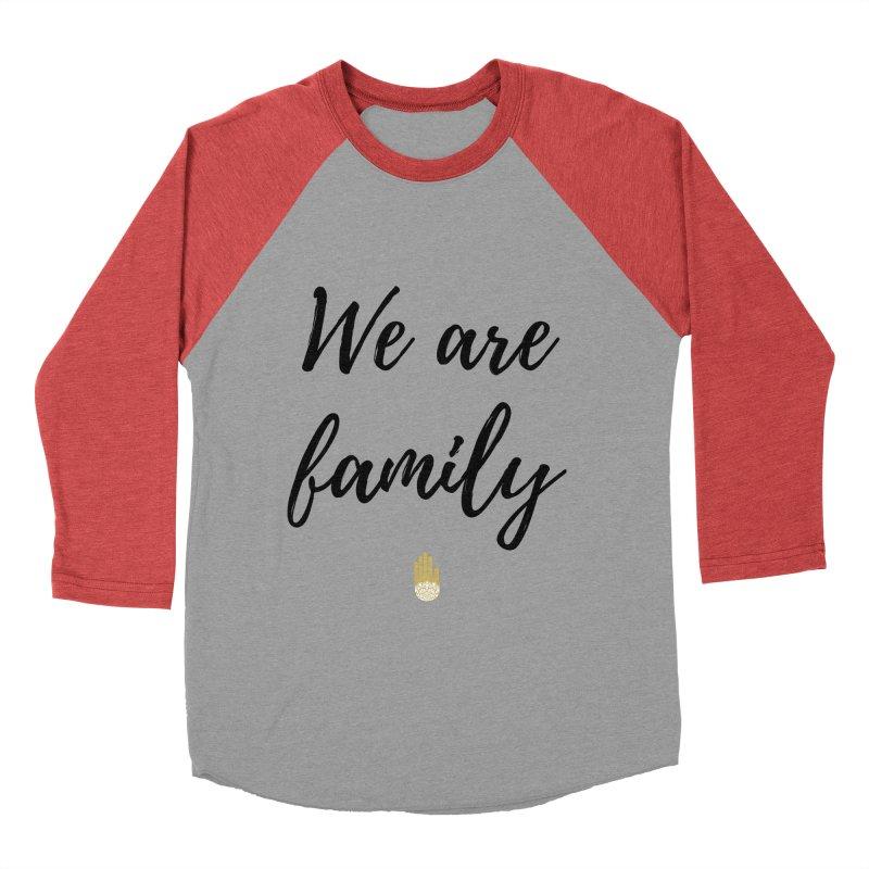We Are Family | Black Letters Gold Hand Design Men's Baseball Triblend Longsleeve T-Shirt by ahimsafamily's shop