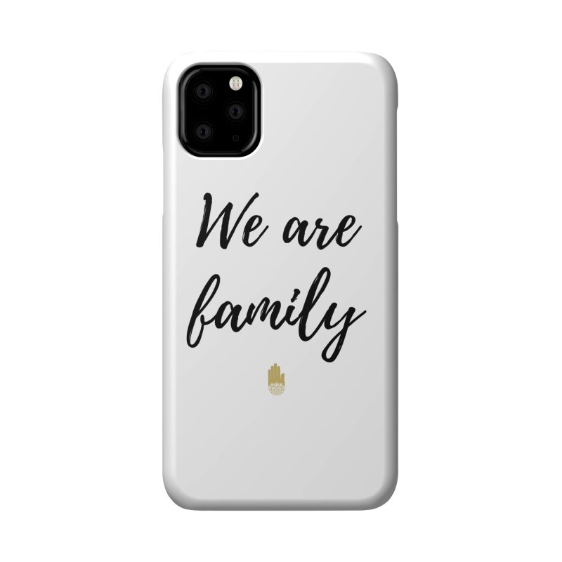 We Are Family | Black Letters Gold Hand Design Accessories Phone Case by ahimsafamily's shop