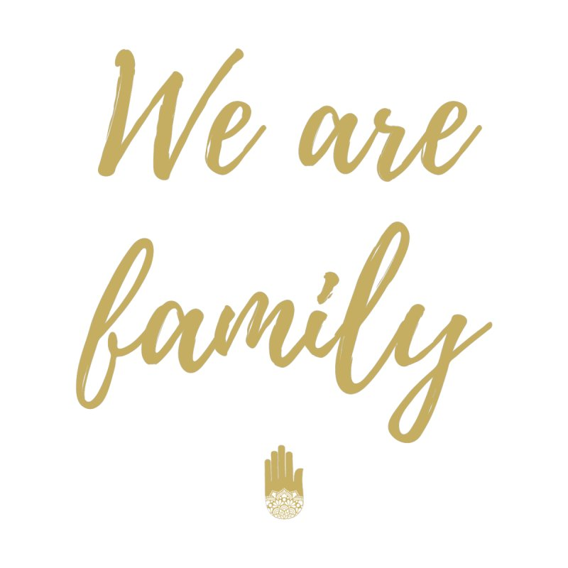 We Are Family | Gold Design Women's Zip-Up Hoody by ahimsafamily's shop