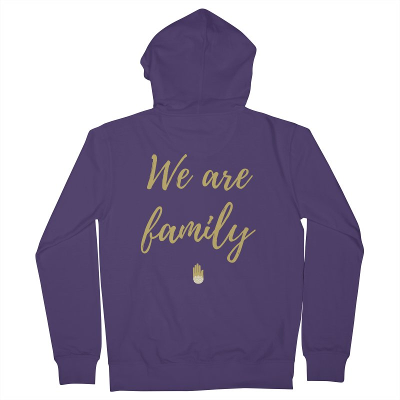 We Are Family | Gold Design in Women's French Terry Zip-Up Hoody Heather Purple by ahimsafamily's shop