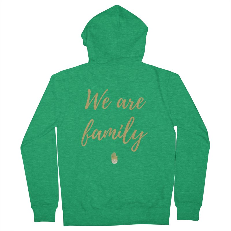 We Are Family | Gold Design Men's Zip-Up Hoody by ahimsafamily's shop