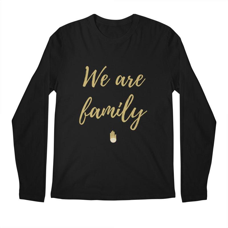 We Are Family   Gold Design Men's Regular Longsleeve T-Shirt by ahimsafamily's shop